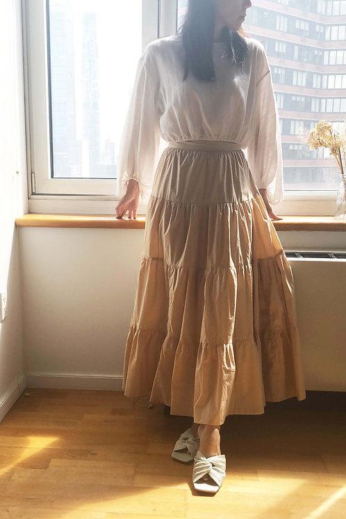 Beige Cotton Skirts