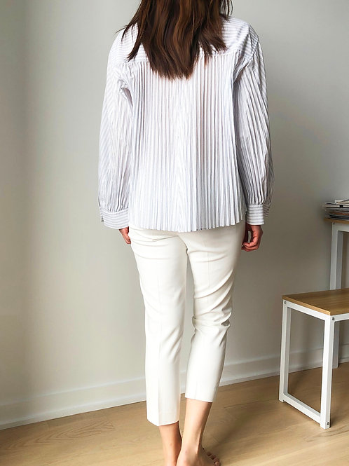 MINU-Pleated Button-down Shirt