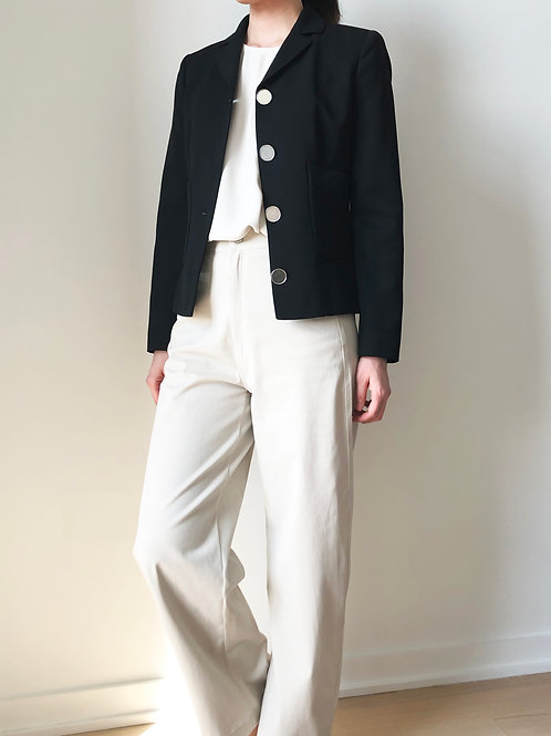 SEMI-Notch collar button detail Jacket