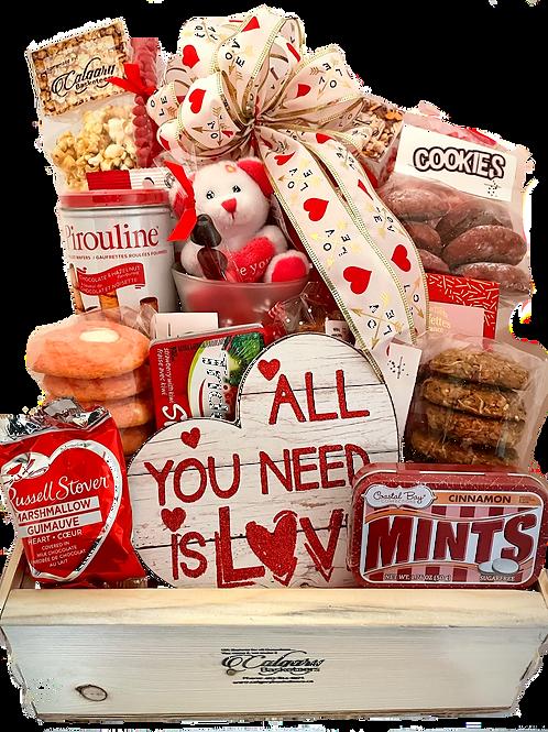 Deluxe Valentine's Day Gift Basket