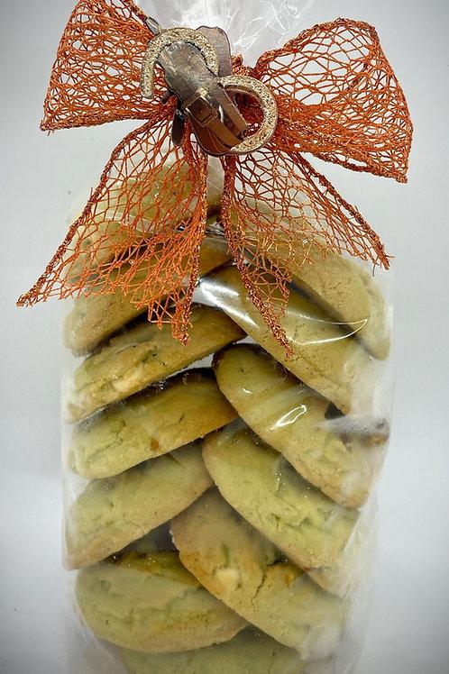 Bag of Pistachio White Chocolate Cookies
