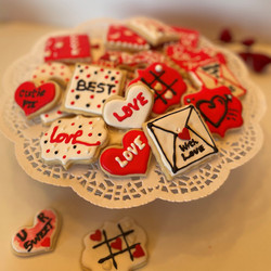 Assorted Valentines Cookies-Small