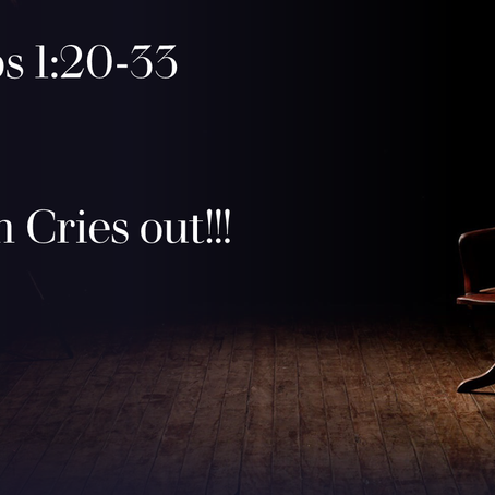 Wisdom Cries Out!