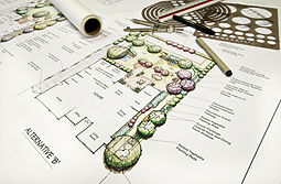 Residential back yard landscape design w