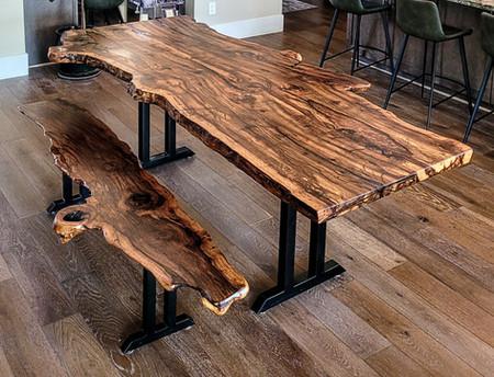 Black Cherry Burl Live Edge Desk for Oak Creek Canyon Estate