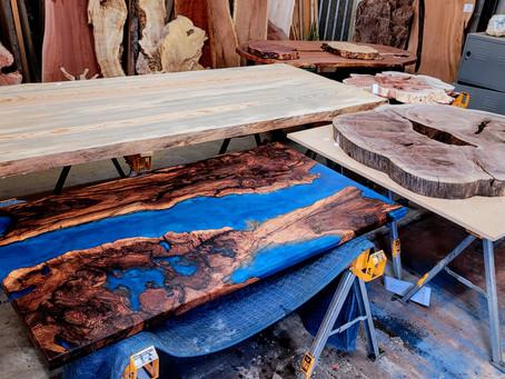 Black Cherry Burl River Desk