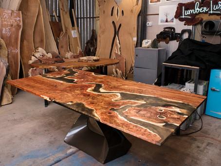 Carob 46x86 River Dining Table