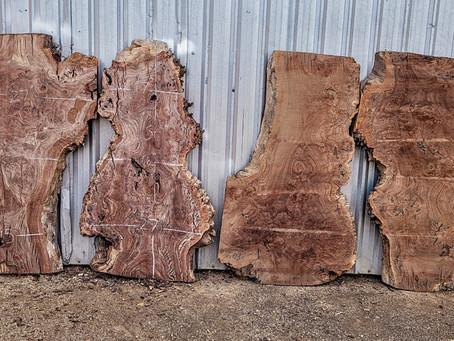New Special Wood, Walnut Burl+Manzanita+Coastal Redwood