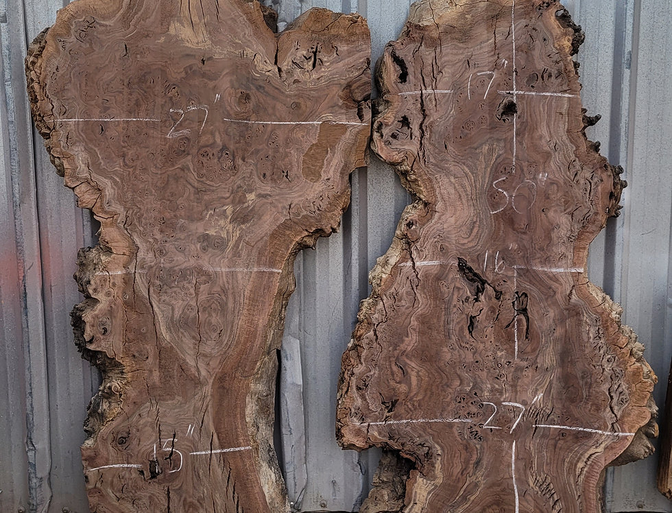 Claro Walnut Burl for River Table Orders
