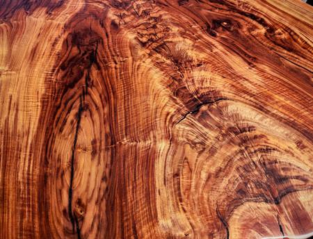 Figured polished walnut feathergrain