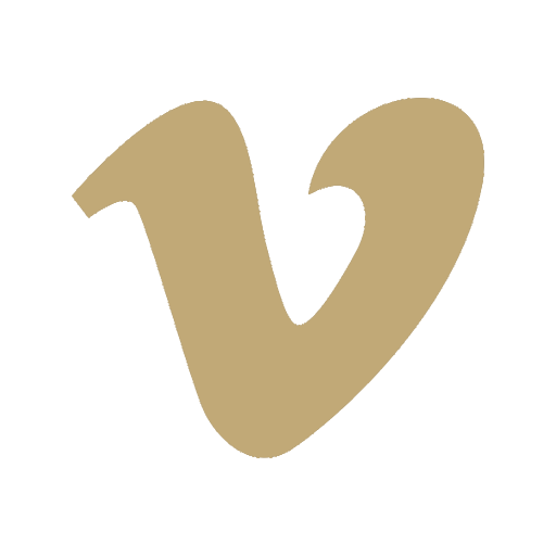 Social Icons GOLD_Vimeo