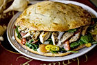 Filled with fresh lettuce and ingredients it is big enough for two!