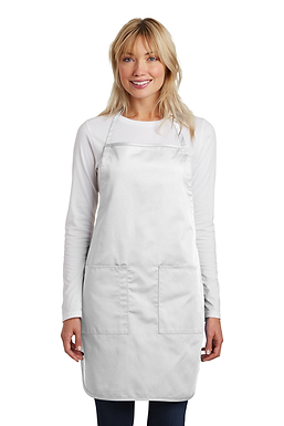 Custom Embroidered Aprons in White