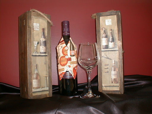 Wine Wraps for Halloween & Thanksgiving