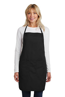 Custom Embroidered Aprons in Black