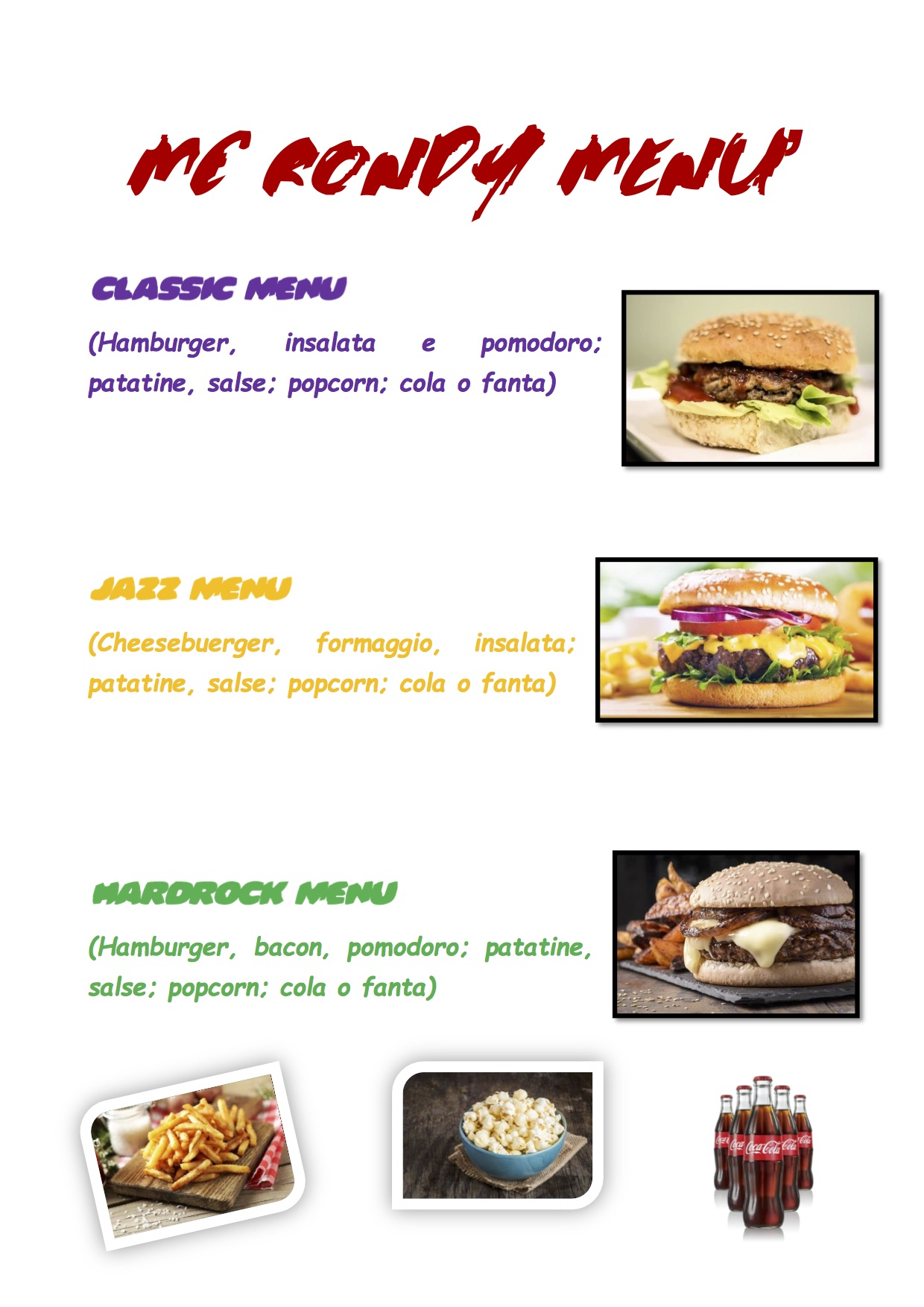 MC RONDY MENU