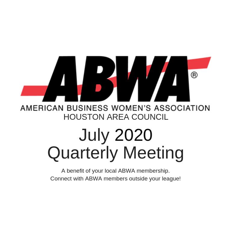 July 2020 VIRTUAL Quarterly Meeting