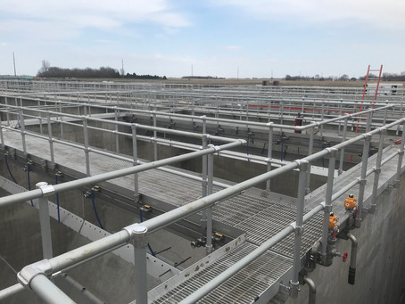 Clarifiers, Office Area, Equipment, and UV Structure
