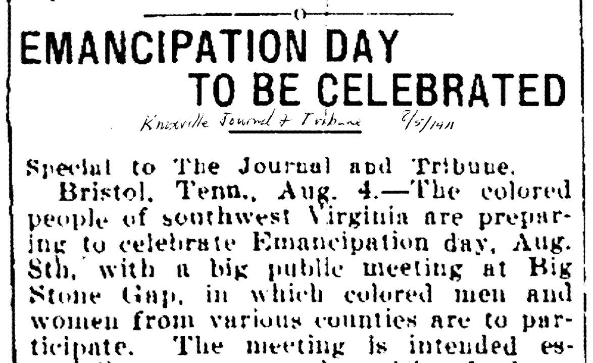 Emancipation Day Big Stone Gap 1911 (1).