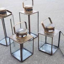 4 Various Sized Gold Lanterns