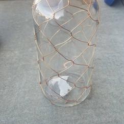 Wire Glass Bottle