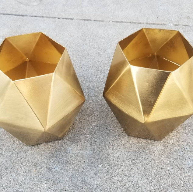 Gold Solid Tea Light Holders