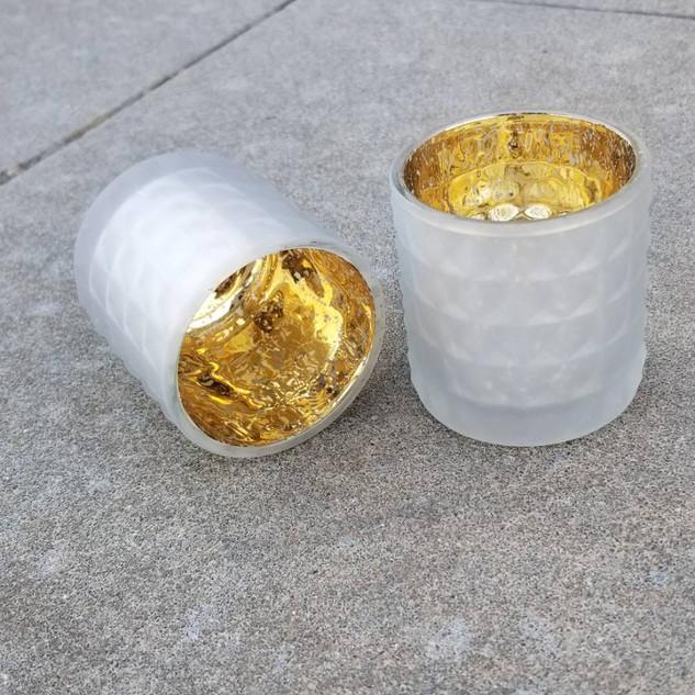 Gold Inside Tea Light Holders