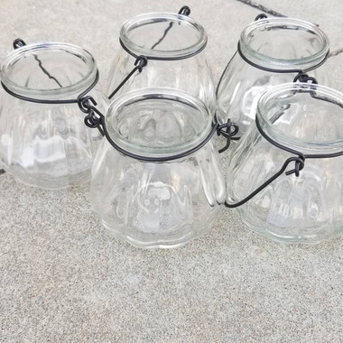 Clear Glass Tealight- $1 each (QTY-5)