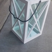 White Cross Window Lantern- $8 (QTY-1)