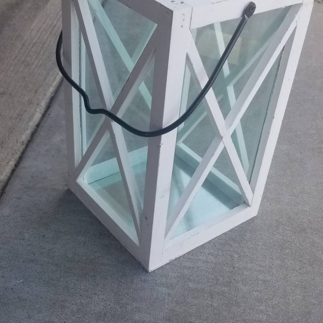 White Cross Window Lantern