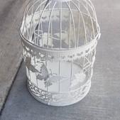White Wire Birdcage- $6 (QTY-1)