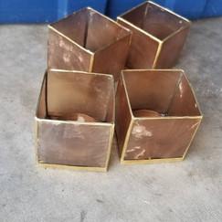 Copper Thin Tea Light Holders