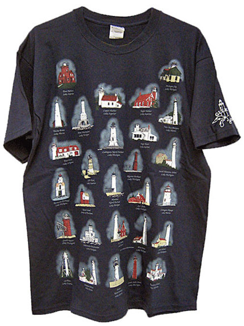 Navy Great Lakes Lighthouse T-Shirt