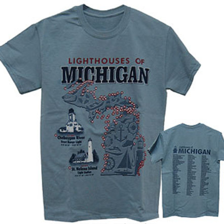 Lighthouses of Michigan T Shirt