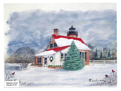 McGulpin Point Christmas Print by: Richard L. Currie