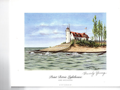 Point Betsie Lighthouse Print by: Beverly Young