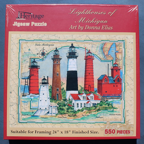 Lighthouses of Michigan Puzzle