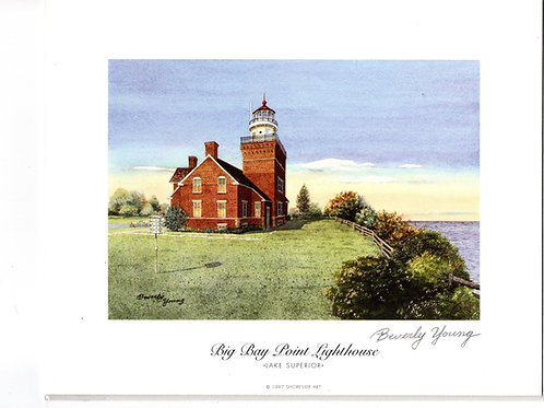 Big Bay Point Lighthouse Print by: Beverly Young