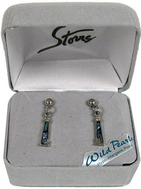 Abalone Dangle Lighthouse Earrings