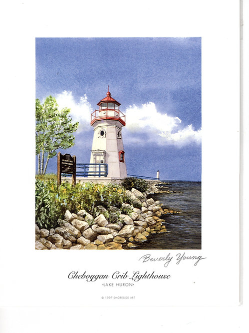 Cheboygan Crib Light Print by: Beverly Young