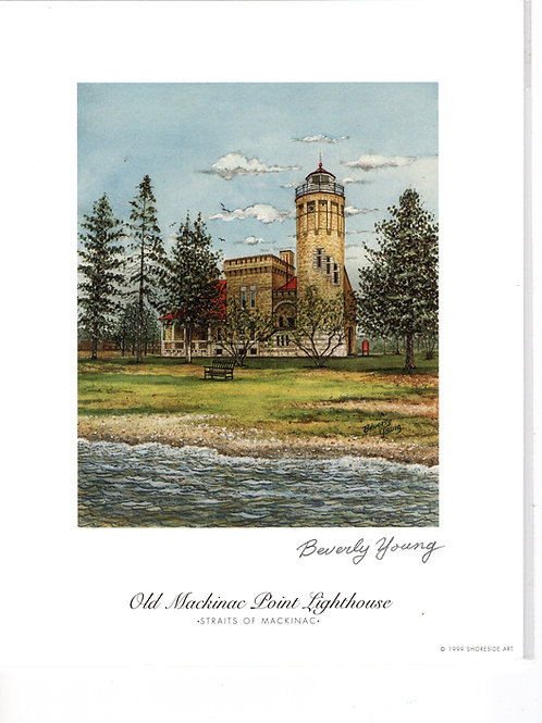 Old Mackinac Point Print by: Beverly Young