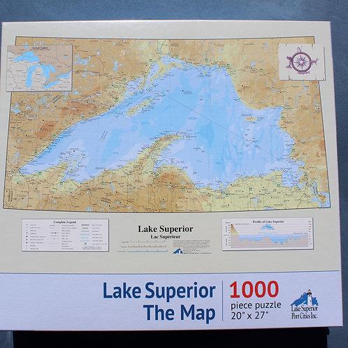 Lake Superior Map Puzzle