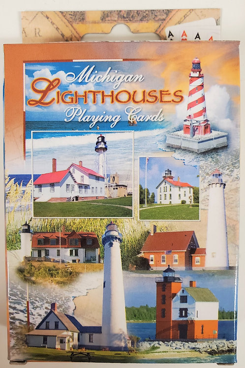 Michigan Lighthouses Playing Cards