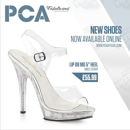 Ankle Strap Glitter Platform Posing Shoes