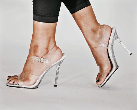 Ankle Strap Glitter Posing Shoes