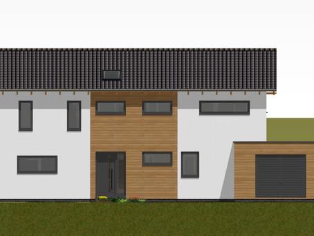 Fassade und 3D-Ansicht