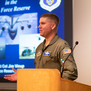 James Vinup discussed careers in the US Air Force Reserve.