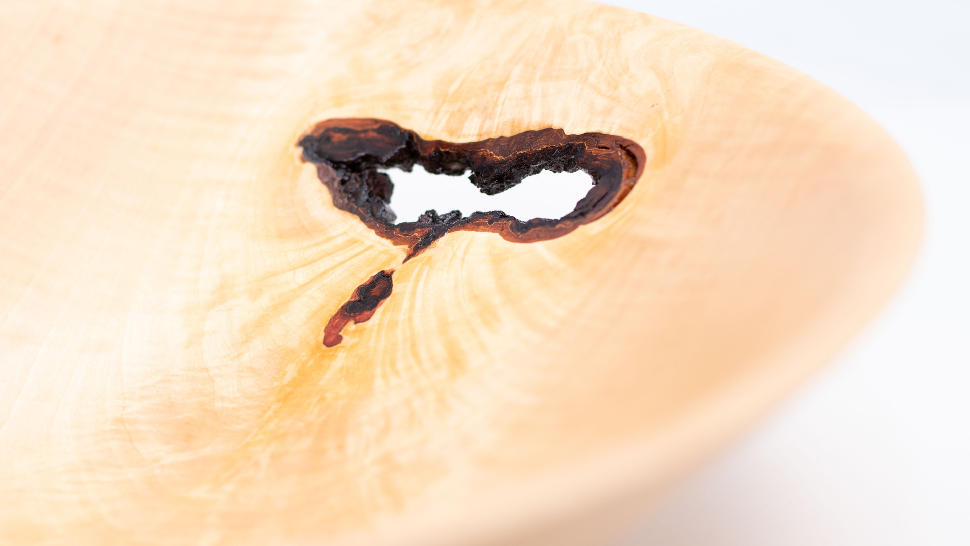 Wholly Feathered Maple Bowl