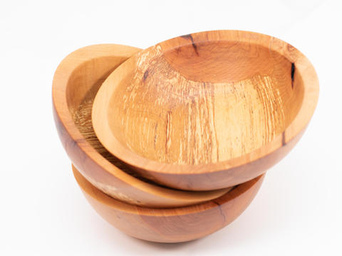 Beech salad bowl set Wood collected from Unionville, PA