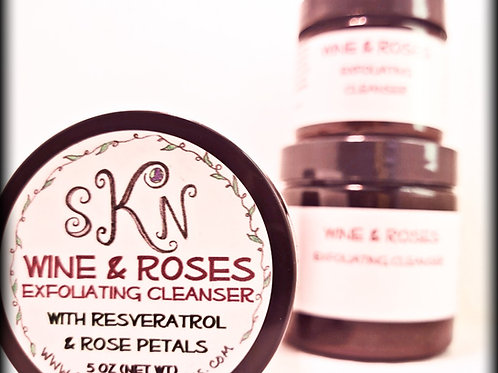 Wine & Roses Exfoliating Cleanser